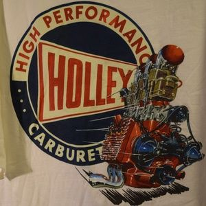 Holley Carburetor Graphic T-Shirt Classic Car Rat